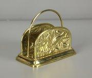 Aesthetic Movement Brass Letter Rack c1890