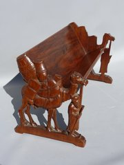 Anglo Indian Book Trough Stand Carved with Camels