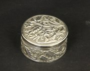 Anglo Indian Kutch Silver Pill Box c1910
