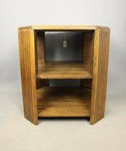 Art Deco Golden Oak Book Table c1930