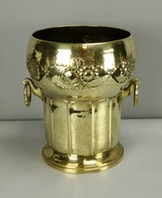 Art Nouveau Brass Champage Bucket Planter c1910