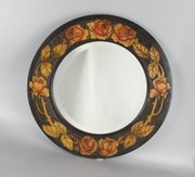 Art Nouveau Glasgow School Poker Work Mirror c1920