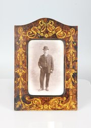 Art Nouveau Pen Work Photo Frame Circa 1910