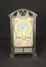 Art Nouveau Silver Plate Photo Frame c1910