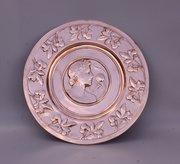 Art Nouveau WMF Copper Wall Plaque Lady c1910