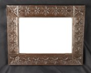 Arts & Craft Carved Oak Wall Mirror circa 1910