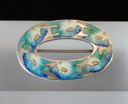 Arts & Craft Silver and Enamel Fish Brooch