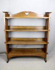 Arts & Crafts Adjustable Oak Bookcase Circa 1900