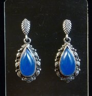 Arts & Crafts Silver and Chalcedony Earrings
