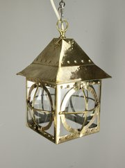 Arts & Crafts Brass Lantern Circa 1900