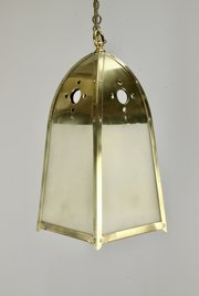 Arts & Crafts Brass Lantern c1910