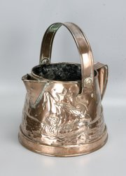 Arts & Crafts Copper Pail Jug Planter Cornish