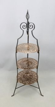 Arts & Crafts Copper Steel Cake Display Stand