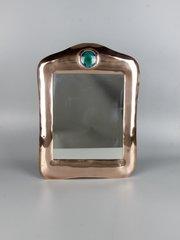 Arts & Crafts Copper and Enamel Mirror c1910