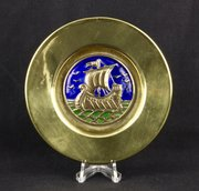 Arts & Crafts Enamel Galleon Pin Dish circa 1910