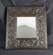 Arts & Crafts Leigh Tonbridge Carved Oak Mirror