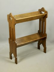 Arts & Crafts Oak Book Trough Stand c1910