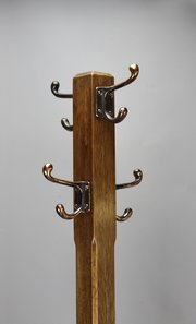 Arts & Crafts Oak Coat Rack Stick Umbrella Stand