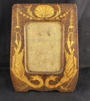 Arts & Crafts Poker Work Dragon Photo Frame 1912