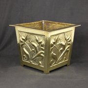 Arts & Crafts Scottish School Brass Planter c1910