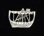Arts & Crafts Silver Celtic Iona Ship Brooch