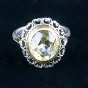 Arts & Crafts Silver Gold Citrine Ring S Dunlop