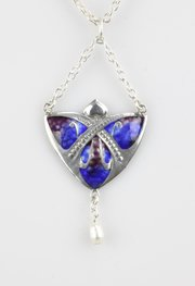 Arts & Crafts Silver & Enamel Pendant, 1909