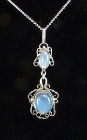 Arts & Crafts Silver and Moonstone Pendant Liberty