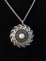Arts & Crafts Silver and Mother of Pearl Pendant