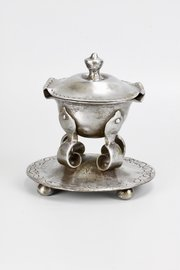 Arts & Crafts Steel Inkwell Inkstand A Carne