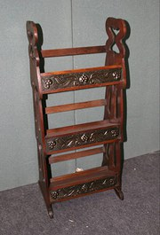 Arts and Crafts Book Case with Copper Panels
