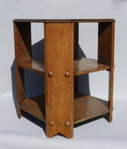 Arts and Crafts Oak Bookcase Table Heals Style