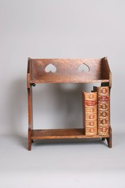 Arts and Crafts Oak Wall Shelf Book Stand