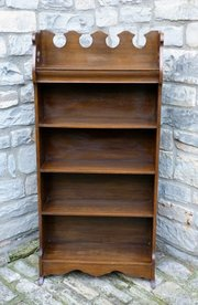 Arts and Crafts Oak Waterfall Bookcase