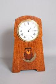 Arts and Crafts Owl Mantel Clock Liberty
