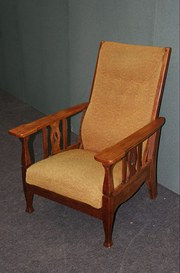 Arts and Crafts Patent Reclining Armchair
