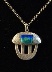 Arts and Crafts Silver & Enamel Pendant Bham 1908