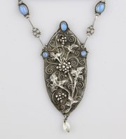 Birmingham School Arts & Crafts Opal Necklace