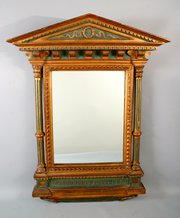 C 19th Italian Renaissance Tabernacle Frame Mirror