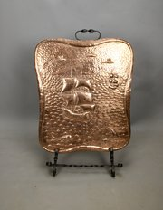 Cornish Arts & Crafts Copper Fire Screen c1900