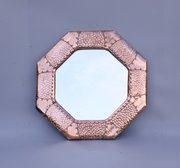 Cornish Arts & Crafts Octagonal Wall Mirror c1910