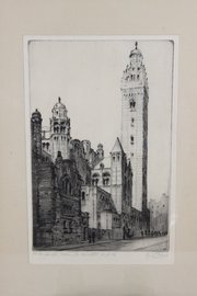 Cyril Power Westminster Cathedral Etching 1920