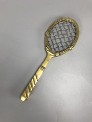 Tennis Racquet Paper Weight Brass c1930