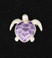 Enamel Turtle Brooch Pin c1930