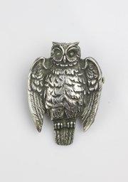 English Arts & Crafts Owl Brooch Circa 1900