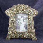 French Art Nouveau Brass Photo Frame c.1925