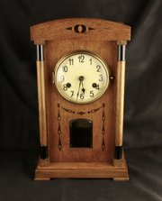 German Arts & Crafts 8 Day Mantel Clock c. 1910