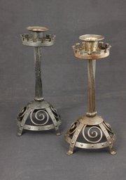 Goberg Arts & Crafts Steel Medieval Candle Sticks