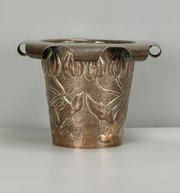 Guild Arts & Crafts Copper Planter Tulips c1900