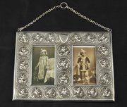 Indian Silver Swami Madras Double Photo Frame 1900